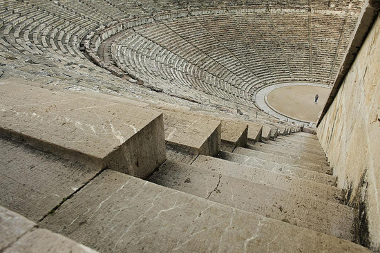 Photo of the ancient theater of Epidaurus, Greece by Hans Heintz