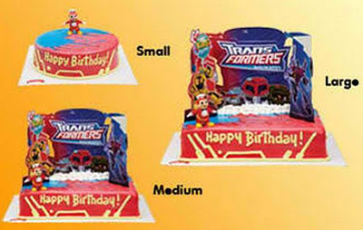 Jollibee party package - Transformers birthday cakes