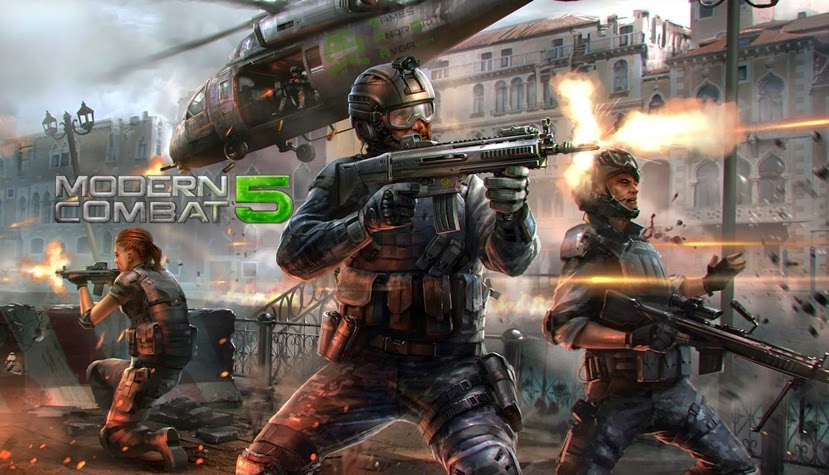 Modern Combat 5: Blackout v1.0.0p Apk + OBB (DATA) Full PACTHED