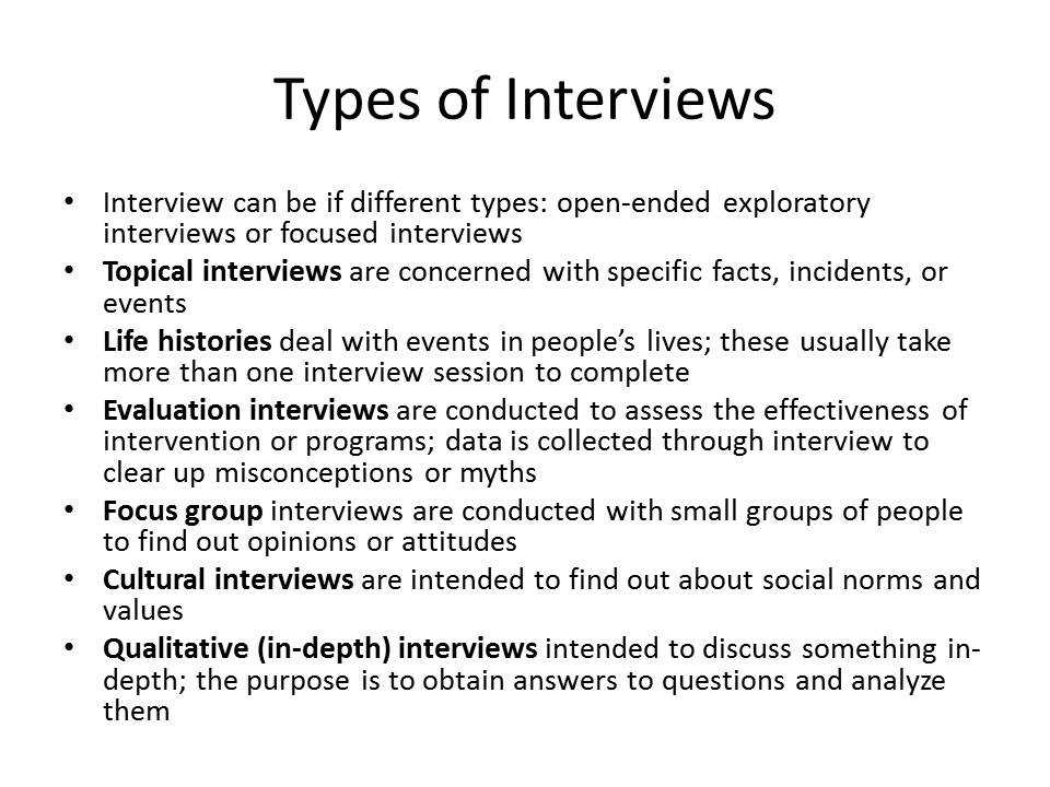 writing an interview paper