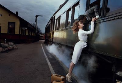 Despedida en el tren