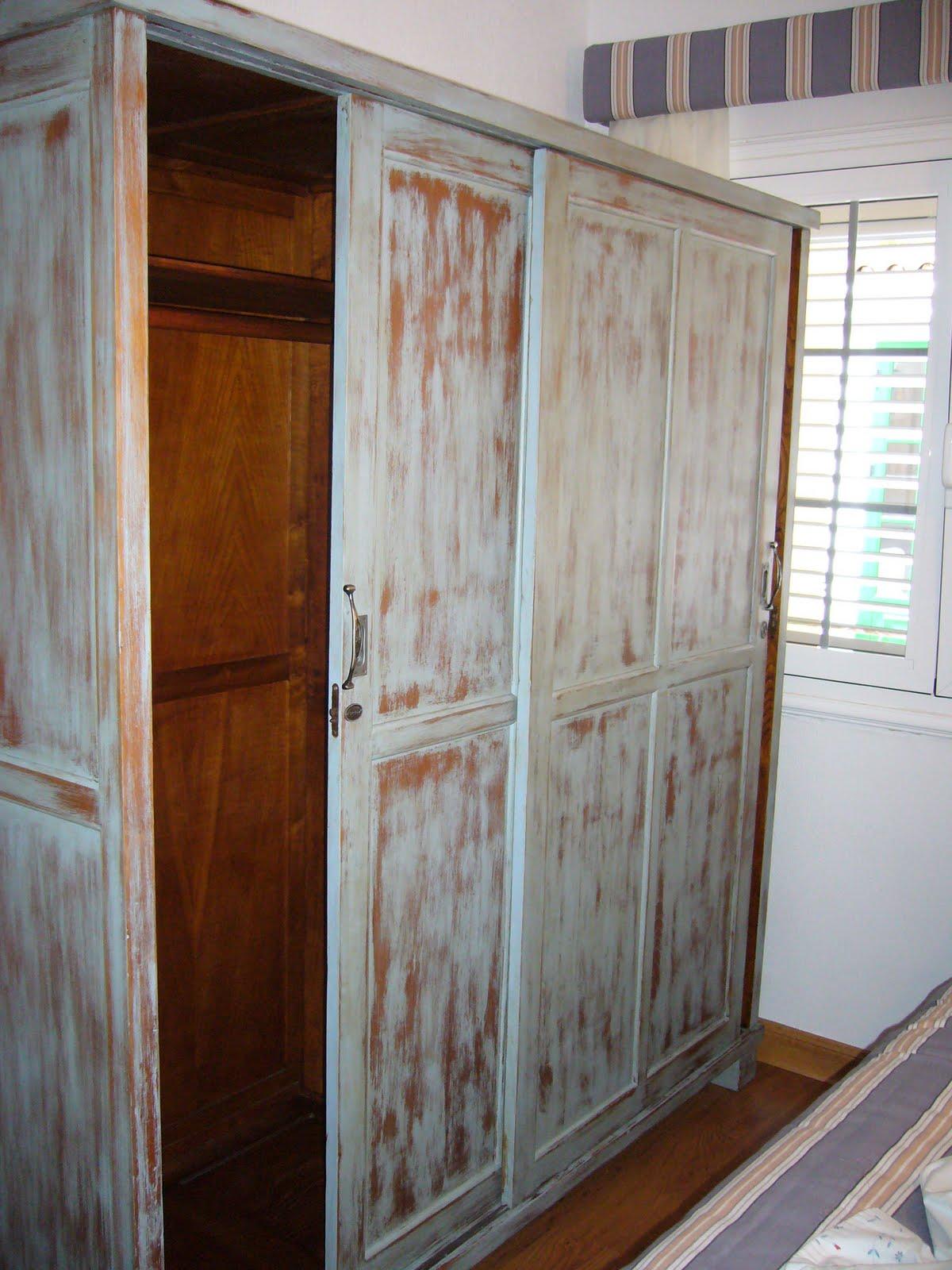 la restauradora muebles patinados dos azules