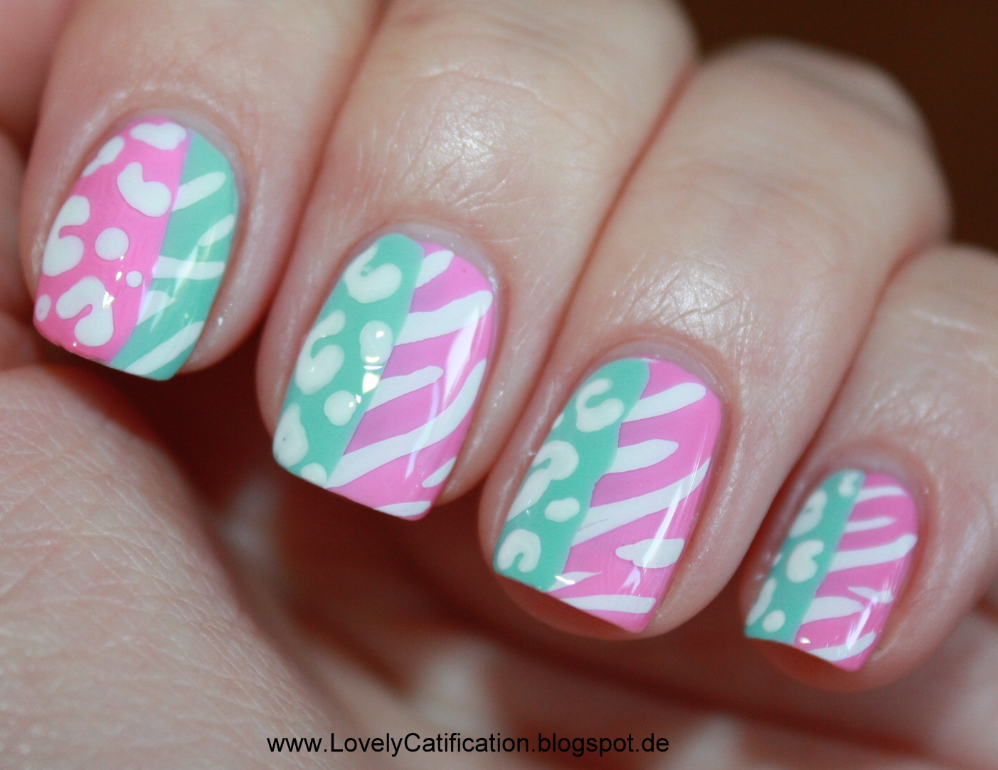 Tolle Nailart im Leoparden Look Nails  - nageldesign leopardenmuster anleitung