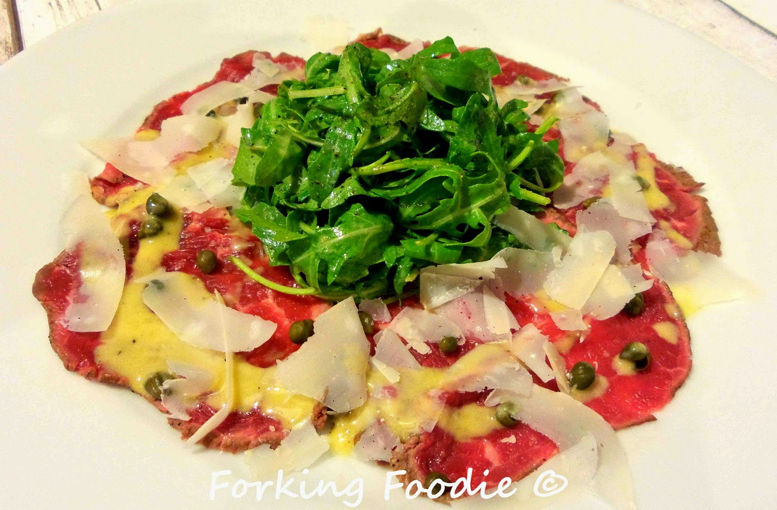 Carpaccio of beef recipe