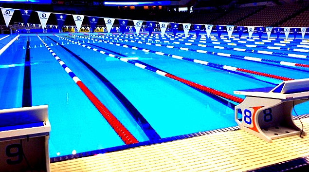 at night the pool will only use 8 of the lanes in some races only the first place qualifier will gain a spot on the olympic teamin other races - Olympic Swimming Pool Lanes
