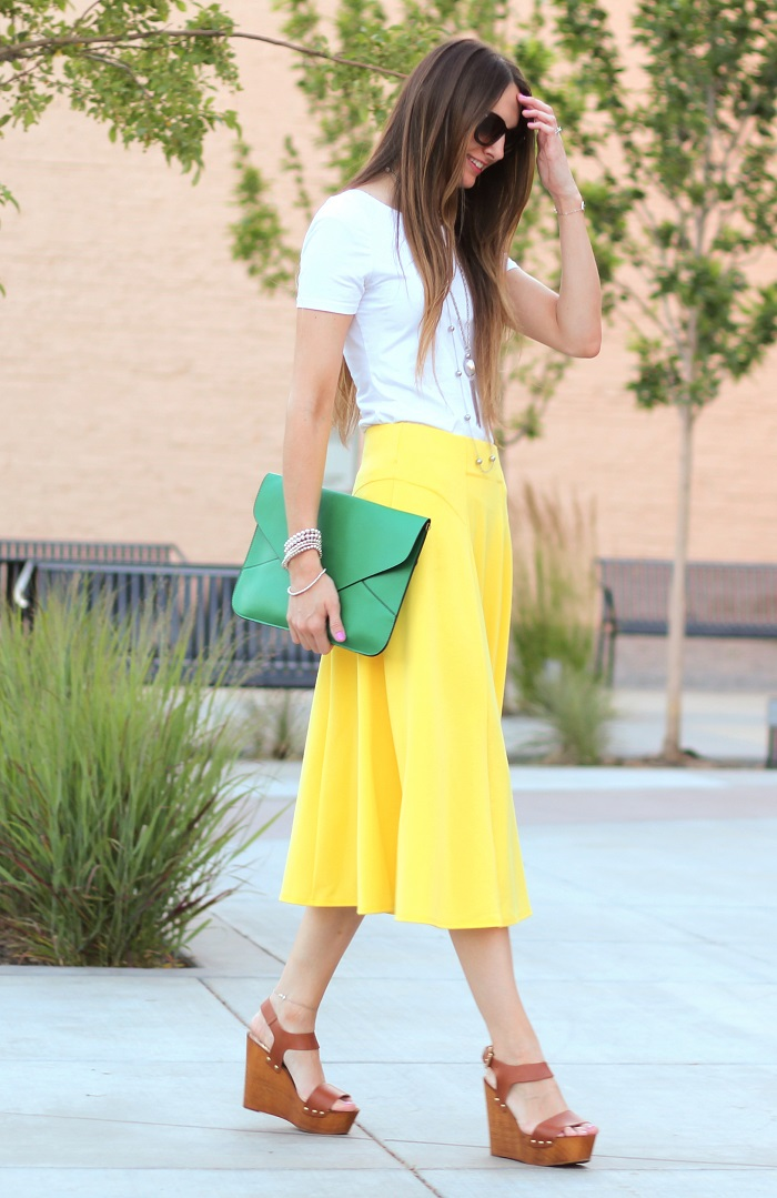 Summery Yellow Skirt
