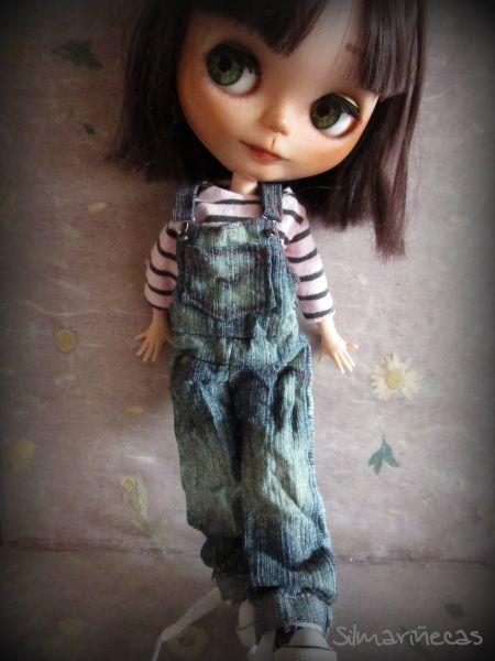 Caty peto vaquero oversize para blythe o basaak doll