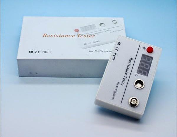 E Cig Tester : E cigarette resistance ohm tester electronic
