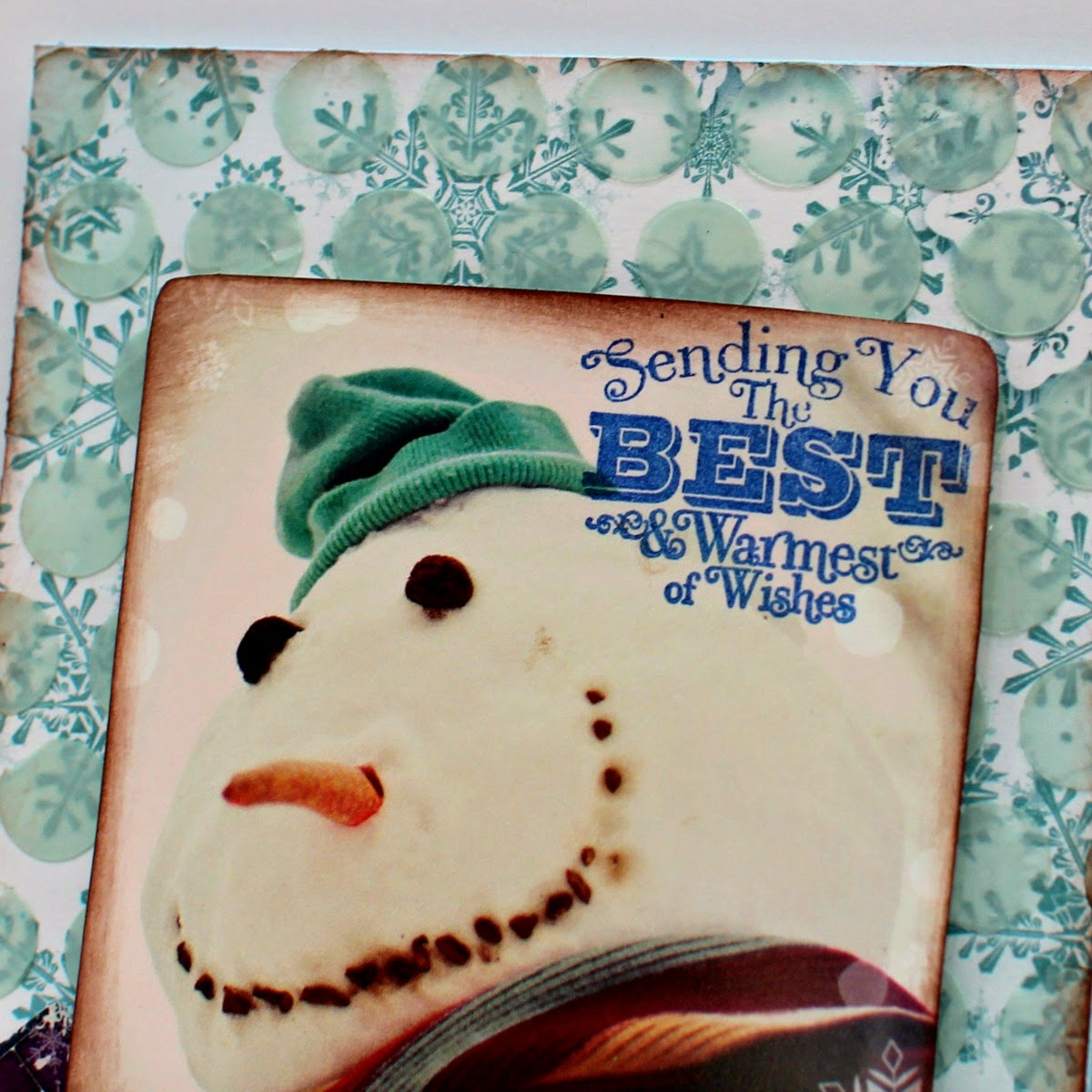 Warmest Wishes card by Ilene Tell using BoBunny Altitude