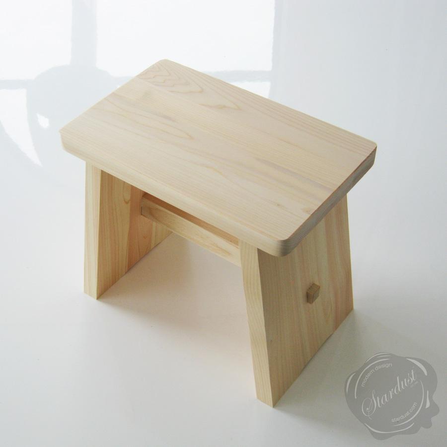 Onsen hot spring japanese bath stool in hinoki wood