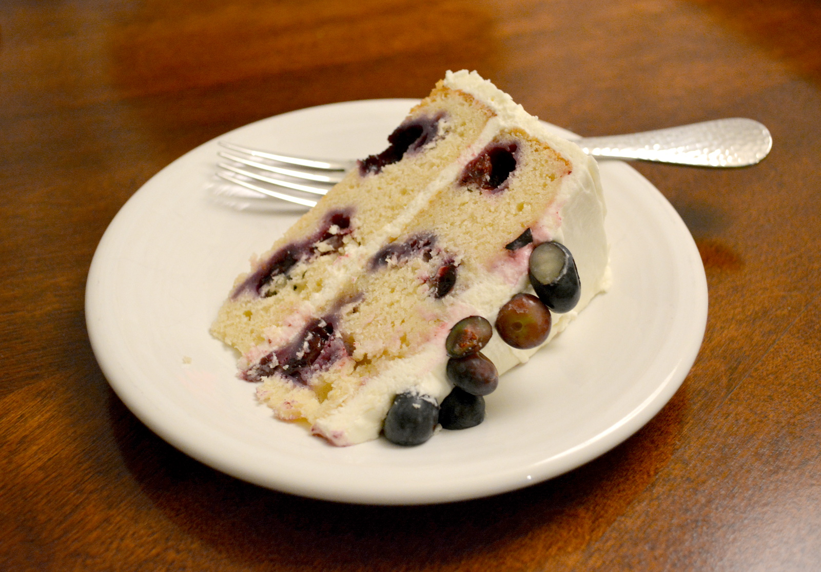 cozy birdhouse | lemon blueberry cake... from scratch!