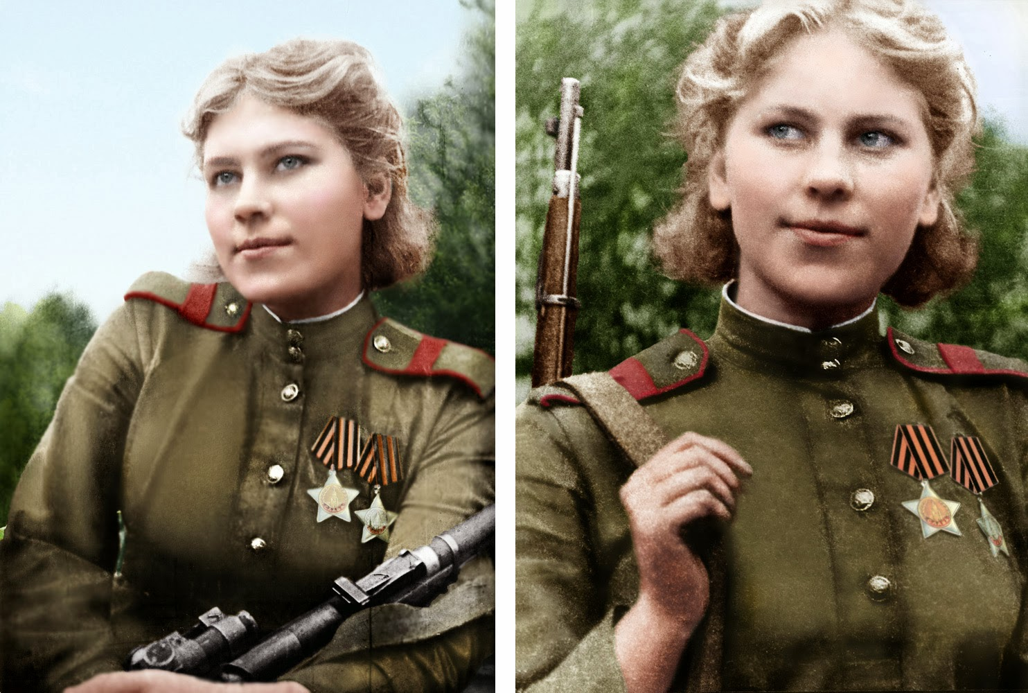 sécurité mosin  Smart,+beautiful+and+deadly,+19-year-old+Russian+sniper+Roza+Shanina+had+54+confirmed+kills+2