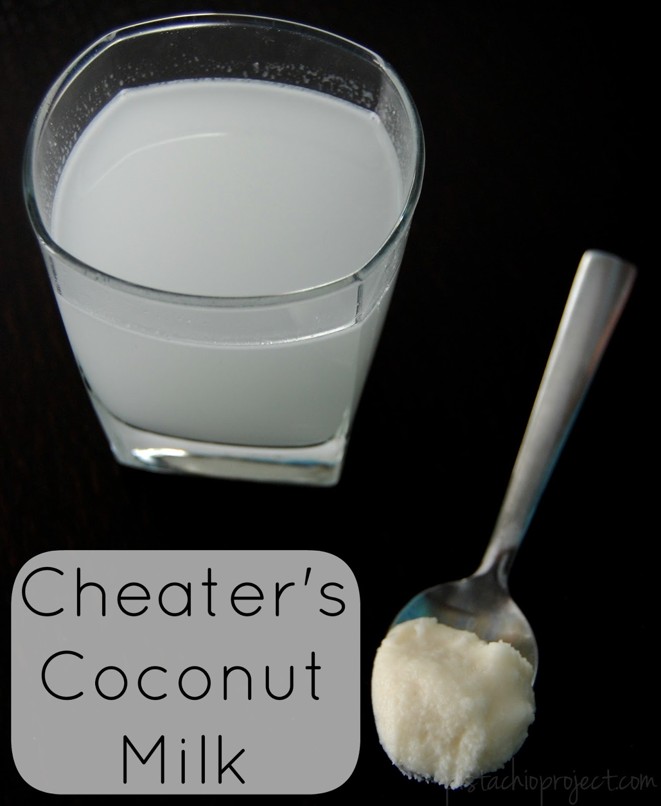 Cheater's Coconut Milk - Coconut milk that you can make in just a few seconds! #coconutmilk #coconut #nondairy #fast #easy