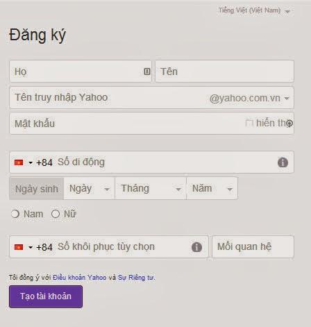 ng nh   p Yahoo       ng k   Yahoo Chat Mail nhanh nh   t b   ng Ti   ng