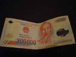 Ticket 200000 Dongs vietnamiens Monnaie