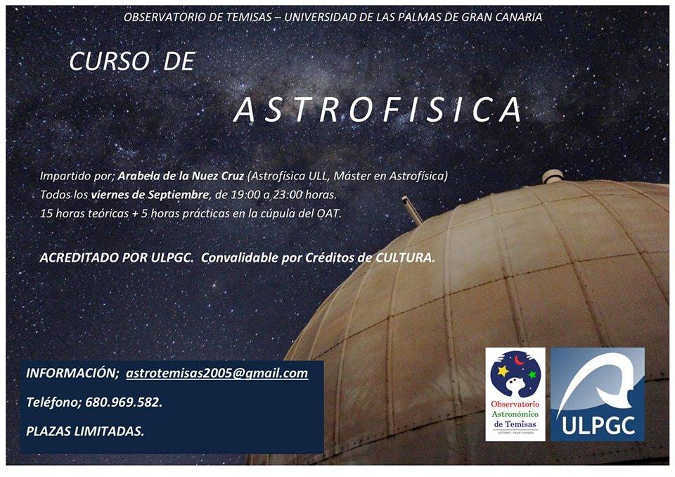 Curso de astrofísica y astronomía en el OAT