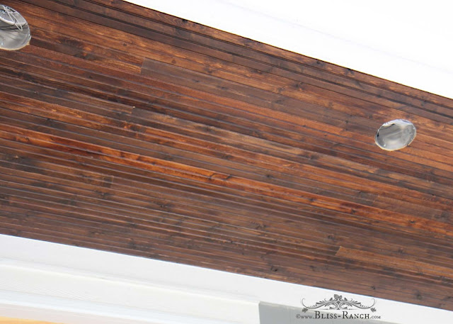 Beadboard porch ceiling, Bliss-Ranch.com