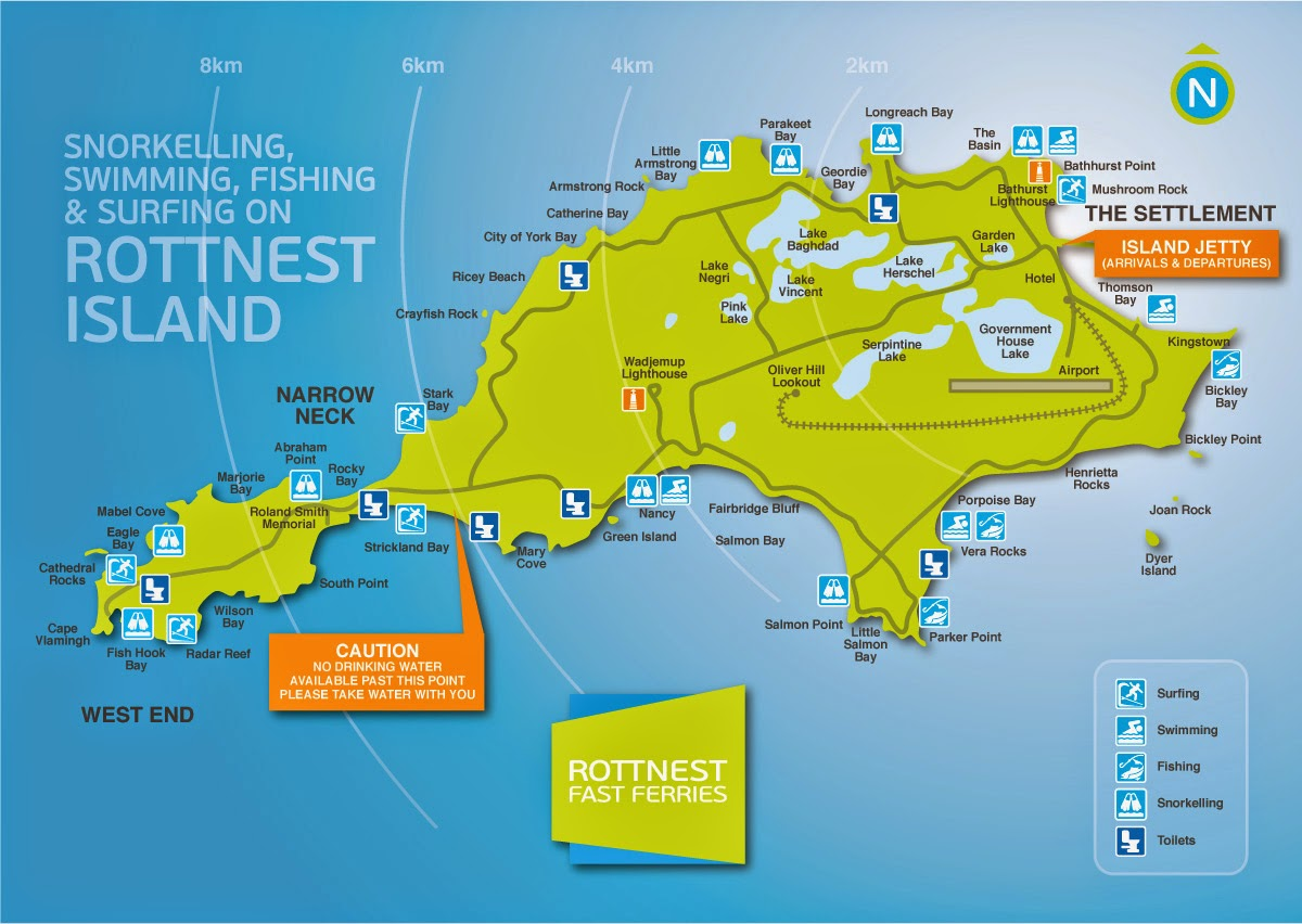 Map Of Rottnest Island Wa