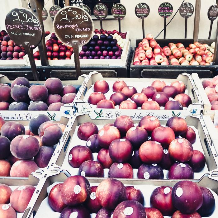Valbonne, France, market, fruits