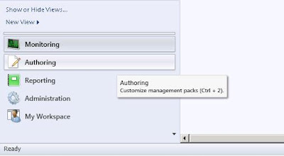 Start the new collection rule by navigating to the System Center Management Console Authoring Screen