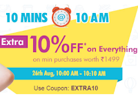 Firstcry:Extra 10% OFF on 1499  From 10 AM TO 10:10Am for 10min  Via  Firstcry
