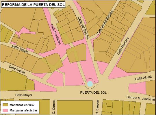 Por las calles de madrid la historia de la puerta del sol for Puerta del sol madrid mapa