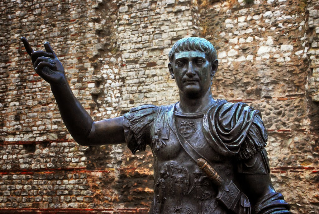"Attribution: ""Emperor Trajan at Tower Hill"" by [Duncan]"