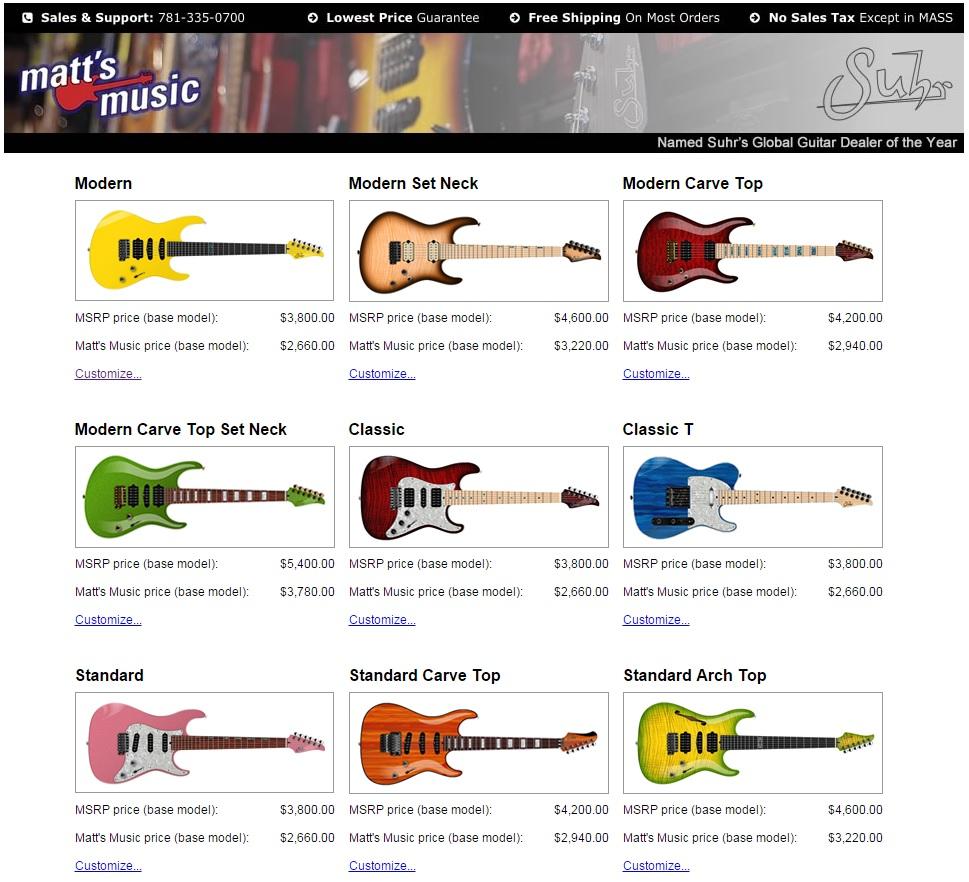 世界中が注目!?suhrのおすすめギターと種類一覧!