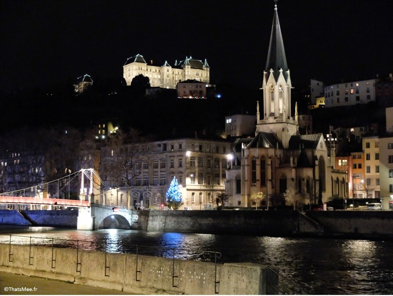 visiter Lyon Quais de Saône lumières nuit by night, ThatsMee.fr