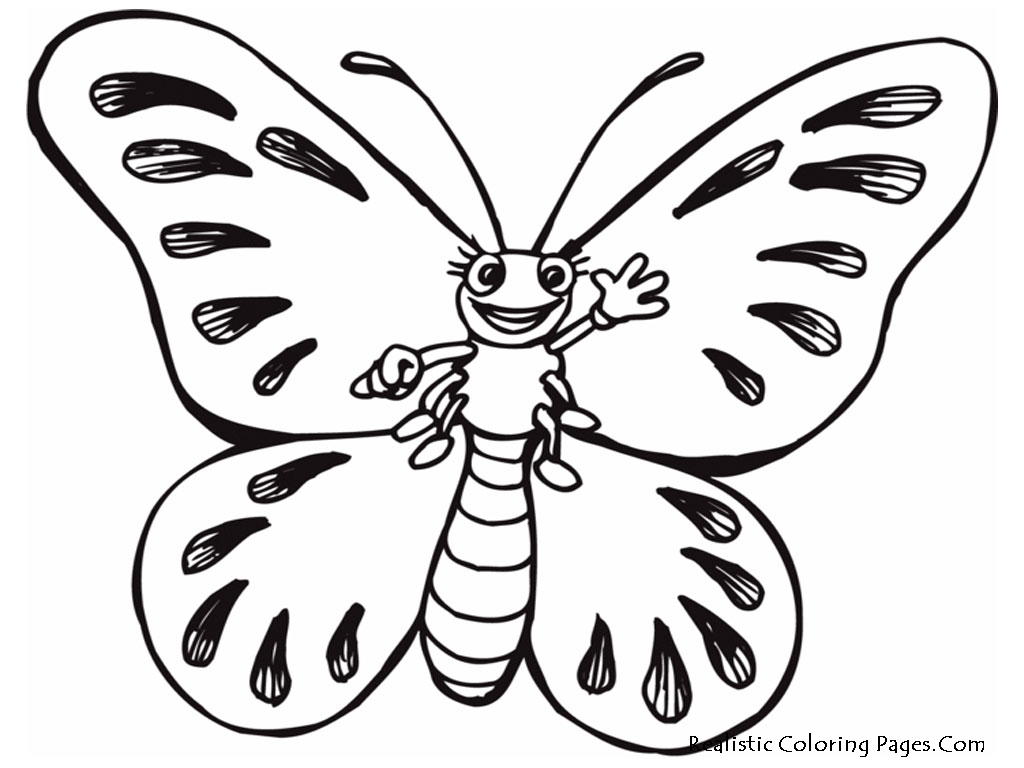 realistic butterflies coloring pages - photo#6