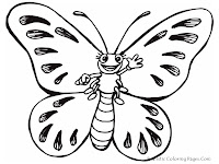 Realistic Butterfly Kids Coloring Pages