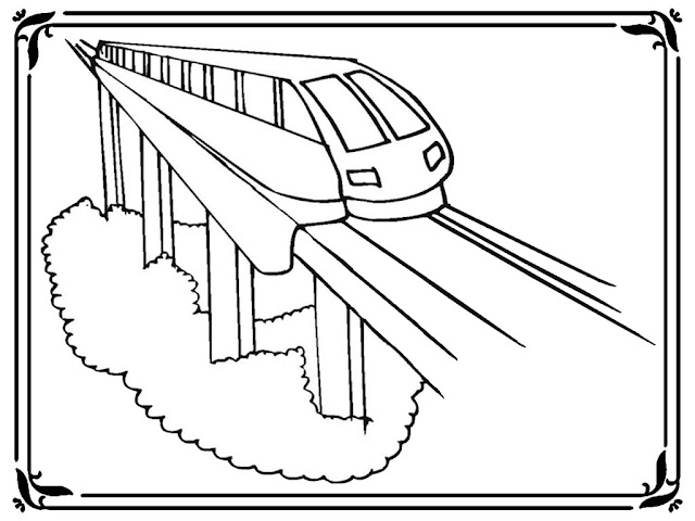 Express Train Coloring Pages