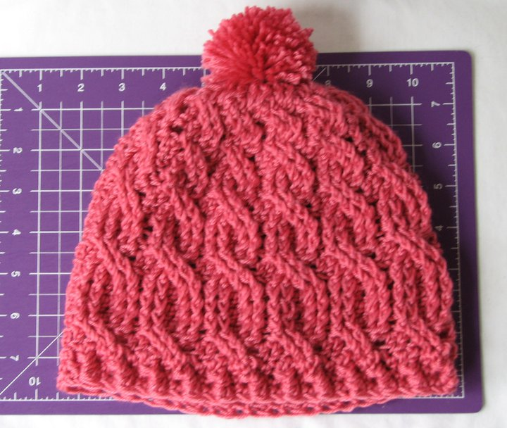 Crochet for free cable crochet beanie with pom pom