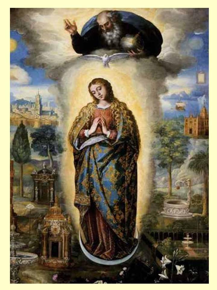 santisima virgen yo creo y confieso vuestra santa e inmaculada