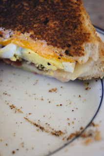 Hard Boiled Egg and Bacon Grilled Cheese: Savory Sweet and Satisfying