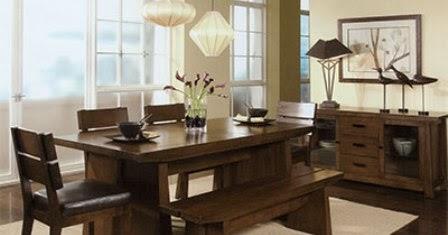 furniture meja makan minimalis modern - desain gambar
