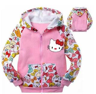 Model Jaket Anak Perempuan Berkarakter Hello Kitty