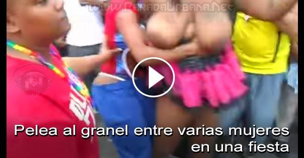 PELEAS CALLEJERAS: Pelea al granel entre varias mujeres en una fiesta