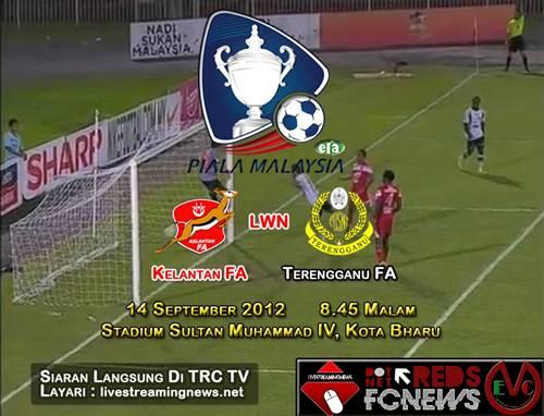 Live Streaming Kelantan vs Terengganu 14 September 2012