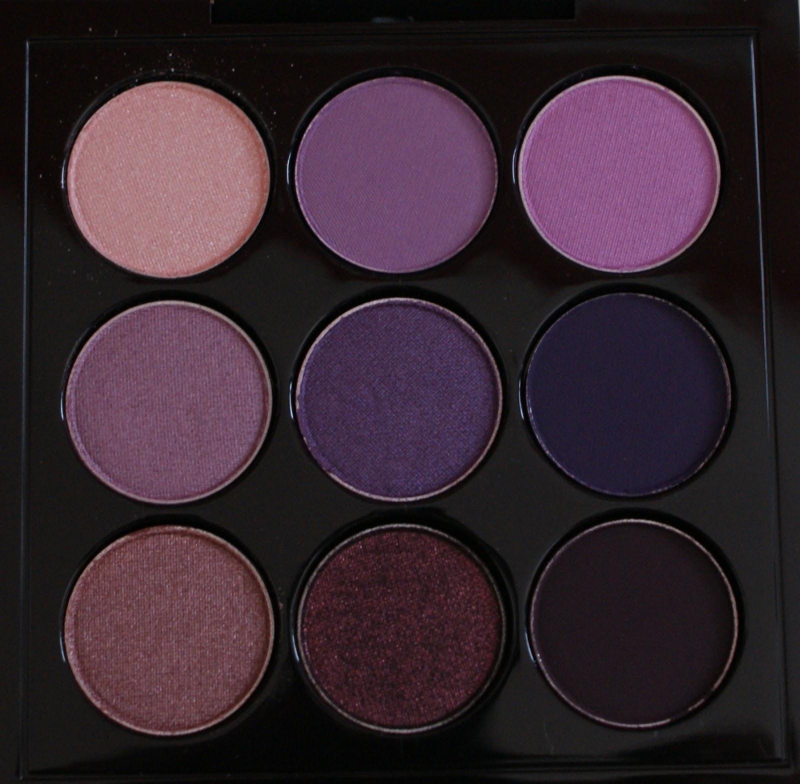 crystalised mac purple times nine eyeshadow palette