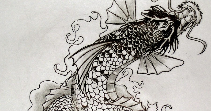 Carpe koi dragon tatouage for Carpe koi japonaise