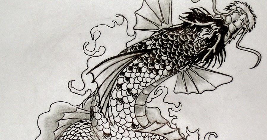 Carpe koi dragon tatouage - Signification tatouage dragon ...