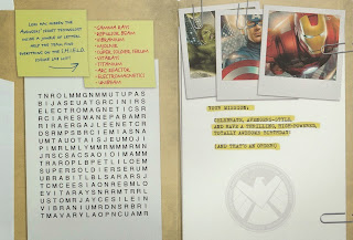 Inside of Avengers 2012 Top Secret birthday card from Hallmark