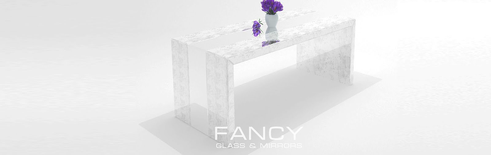 Mirrored uxury dining table