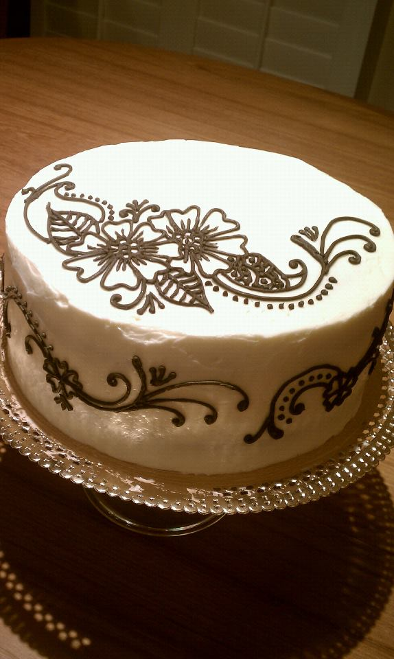 Mehndi Patterns For Cakes : Angel cakes hawaii henna cake