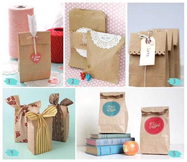 Wendola papel craft i love you - Como decorar bolsas de papel ...