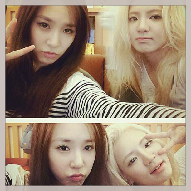 "[Picture] 130619 Hyoyeon Instagram Update: 'with tiffany"" hehehe'"