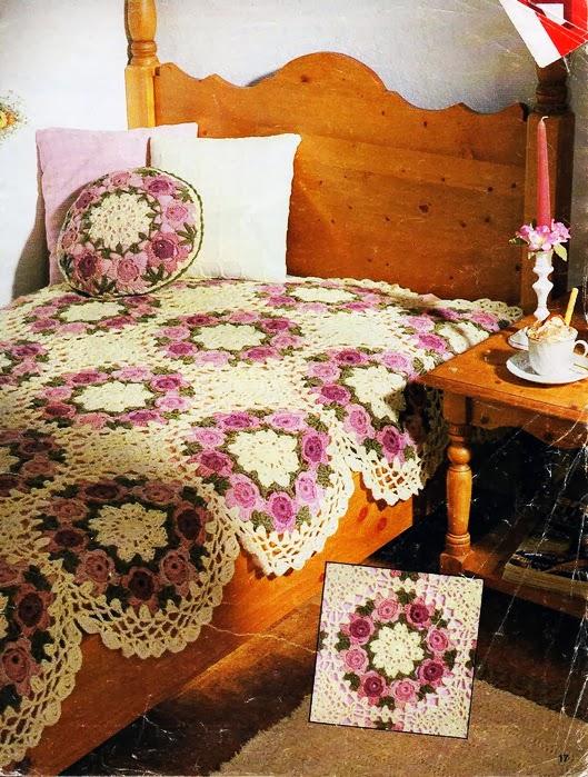 Crochet: FLOWER BLANKET