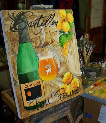Cantillon fou foune beer art