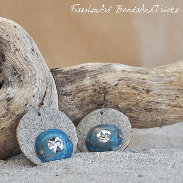 Orecchini FossalonArt & Beadsandtricks